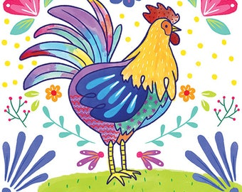 PRINT - Mexican Rooster year