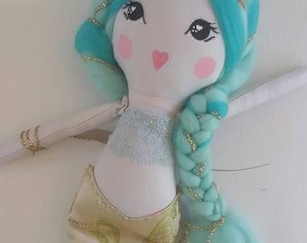 READY TO SHIP Original Mermaid Cloth Doll 14.9 inch