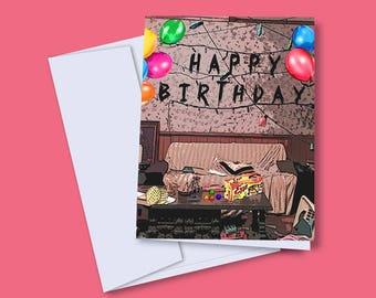 Stranger Things Birthday Card, Happy Birthday Card, Eleven Birthday Card, Stranger Things Card, Funny Birthday Card, Netflix Card