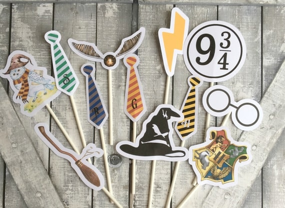 Cupcake Toppers - Harry Potter,Harry Potter Birthday Party Decorations,Harry Potter Party,Hogwarts Party,Harry Potter Cake Decorations