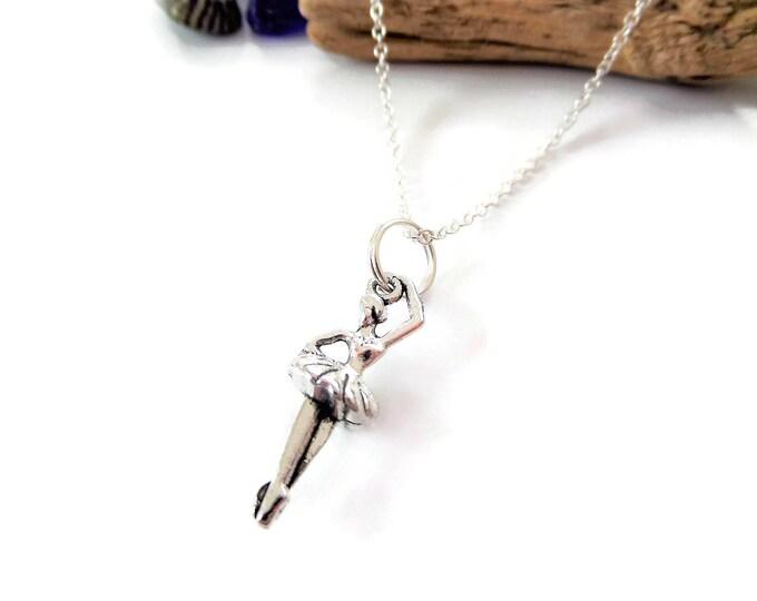 Ballerina necklace, ballerina gift, ballet necklace, ballet jewelry, dance gift, dancer necklace, love to dance gift, dancing necklace