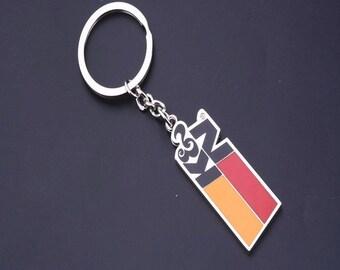 Key Chain Keychain Keyring Keyfob Metal Ring Car Holder Gift Charm Silver