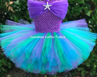 Mermaid Tutu Dress/ Ariel Tutu Dress/ Mermaid Tutu/ Mermaid Birthday Dress/ Mermaid Costume/ Ariel Tutu/ Ariel Birthday