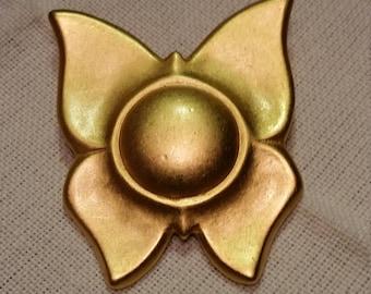 Liz Claiborne Matte Gold-Tone Butterfly Pin