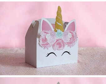 Unicorn  Favor, Unicorn Gable Box, Unicorn Favor Bag, Unicorn Favor Box, Unicorn Favor Tag, Unicorn Party Favor, Unicorn Birthday