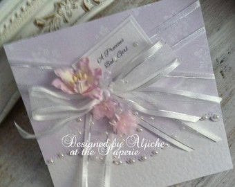 New Baby Girl Card,  Personalized,  Baby Girl, Granddaughter, Daughter, Christening