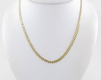 "14K Yellow Gold Diamond Cut Cuban Link Chain Necklace 16"" 11.9 grams"