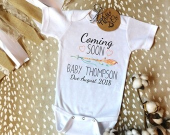 Baby Announcement Onesie®,Coming Soon Baby Announcement,Pregnancy Reveal to Grandparents Onesie,Surprise Baby Onesie,Coming Soon Onesie