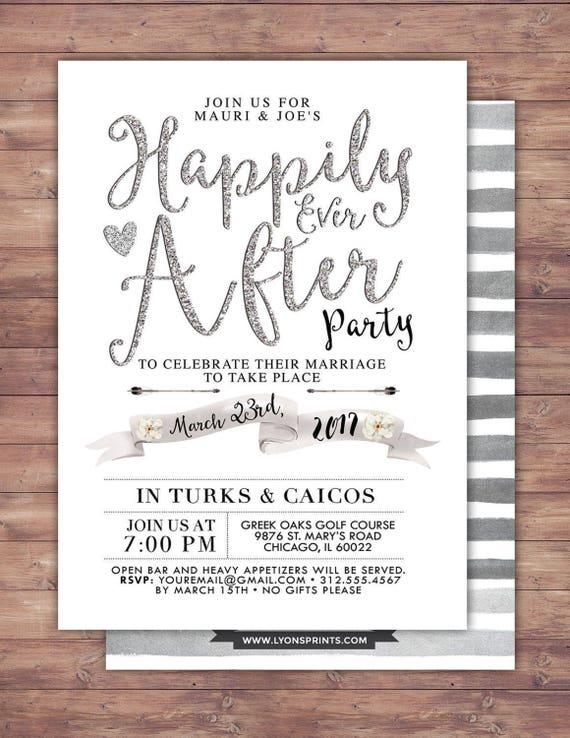 Happily Ever After Invitation BOHO Wedding Shower