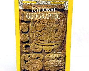 December 1975 National Geographic Magazine Single Issue The Maya Vol 148 No. 6