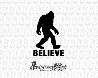Bigfoot BELIEVE Decal
