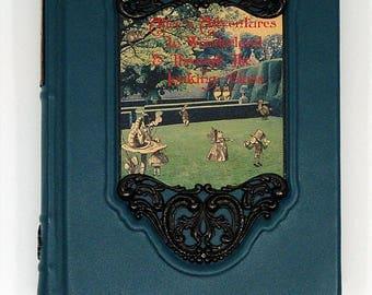 1957 ~ Alice's Adventures In Wonderland ~ Lewis Carroll, John Tenniel, Restored & Rebound in Teal Leather