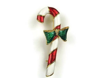 Christmas Candy Cane Brooch