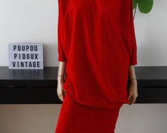 Robe vintage rouge taille 36 / uk 8 / us 4