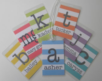 Personalized Bag Tag - Monogrammed Luggage Tag - Backpack Tag - Buy 4, Get 1 Free!