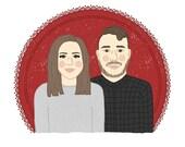 Custom Digital + Printed Valentines Portrait