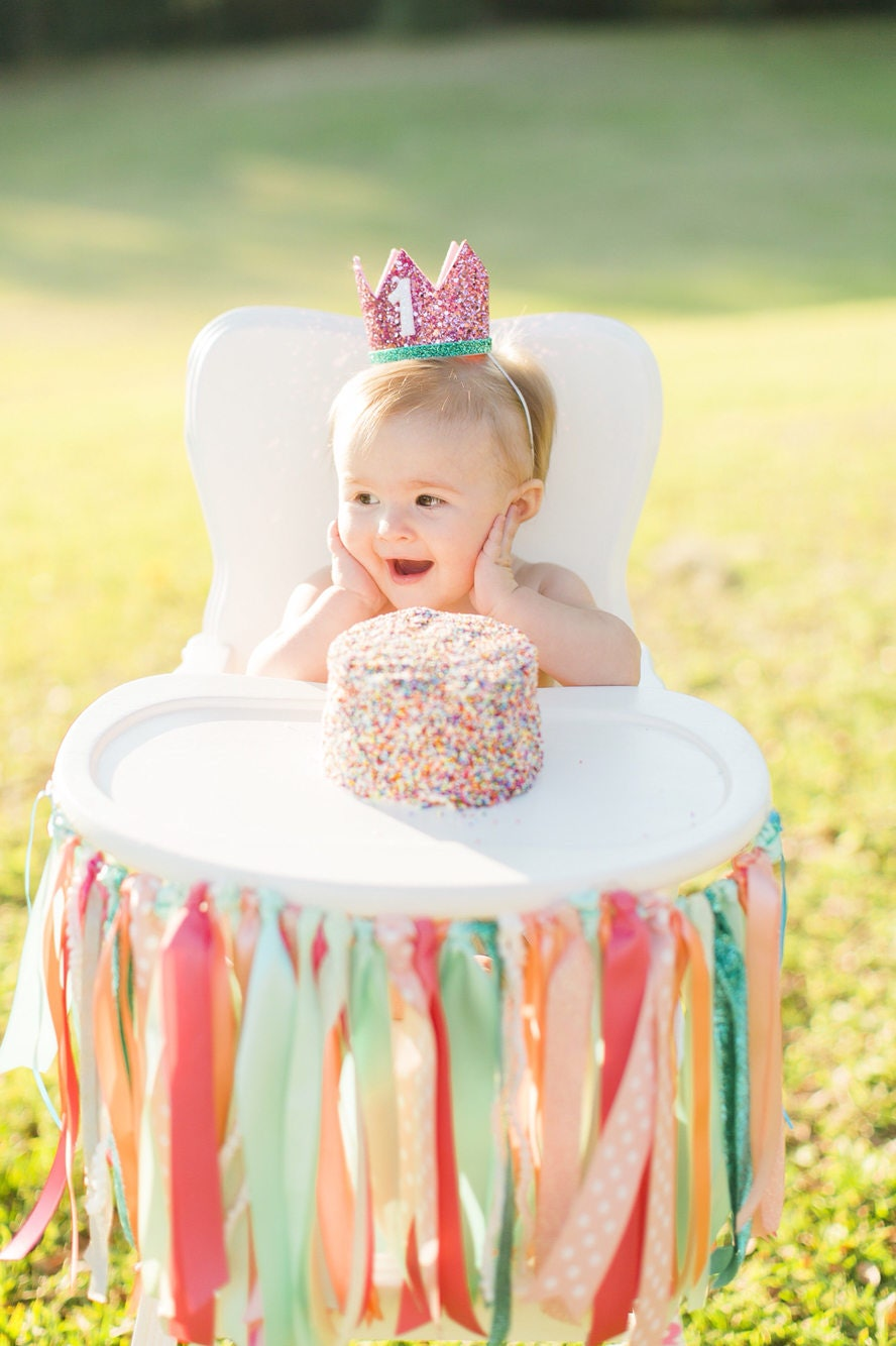 1st Birthday Crown Smash Cake Outfit Girl First Birthday Crown