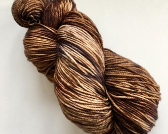 Indie Dyed USA Superwish Merino, 420 yards sock yarn.  Hand dyed for your next knitting, crochet or weaving project