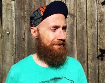 "ANNIBALE CYCLING CAP - Wax print cotton cycling cap ""Ermes"""