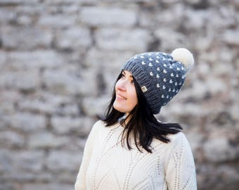Alpaca & Wool Beanie// Hand knitted // Soft, Comfy and Really Warm