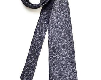 SALE Silk Tie men's dark grey tie pattern neckties vintage Accessories for men men's clothing