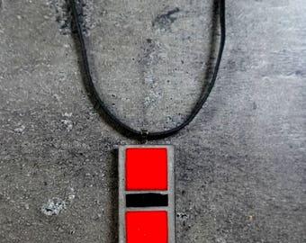Mosaic pendant / Mosaic necklace / Popart pendant / Mosaic necklace / Popart necklace FREE SHIPPING!