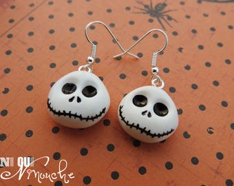 Earrings Mr Jack Skellington (fimo) halloween Nightmare before Christmas the nightmare before Christmas