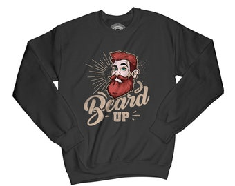 Beard sweatshirt barber gift funny sweatshirt hipster pullover vintage sweatshirt husband gift brother gift no shave sweatshirt    AP80