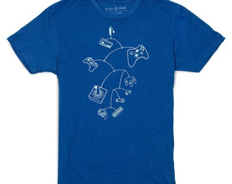 Gamer gifts, Gaming T-shirt, Tech Guy, Gifts for Guys, Video game shirt, MOBILE CONTROLS shirt by Story Spark, Mens T-shirt, Retro gaming
