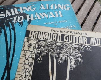 Vintage Hawaiian Guitar Sheet Music Ukulele from 1920s and 1930s