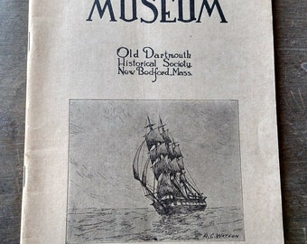 Whaling Museum Old Dartmouth Historical Society Whaling Exhibits Pamphlet 1926 - New Bedford Massachusetts - Whaling History - Free Shipping