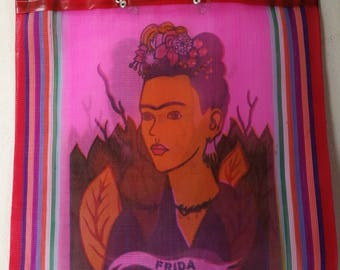 Frida Kahlo bag, Frida Kahlo Tote Bag, Frida Kahlo handbag, mexican tote bag,  Mexican mercado bag, mexican bag, mexican market mercado bag