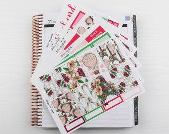 J'Adore Paris Full Vertical Kit || Planner Stickers