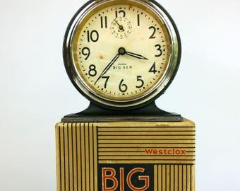 Vintage 1930s Westclox Big Ben with Original Box - Art Deco