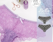 DIGITAL Lingerie Sewing Pattern - Bella Knickers / Panties - pdf download E2004 - from EVIE la LUVE