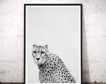 Cheetah Print, Safari Nursery Decor, Abstract, Modern Home Wall Art, Cheetah Wall Decal, Black And White African Safari Animal Print Decal