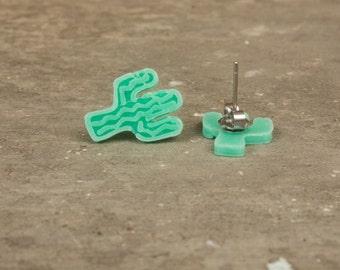 Cactus Studs / 3D Printed Studs / Cactus Earrings