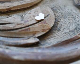 Laser Cut Heart Shape, Chipboard Die Cut, Love Embellishment, Tiny Heart Decor, Scrapbooking Supplies