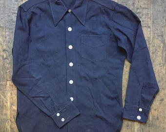 1940s Vintage wool crepe work shirt by C.W Fink