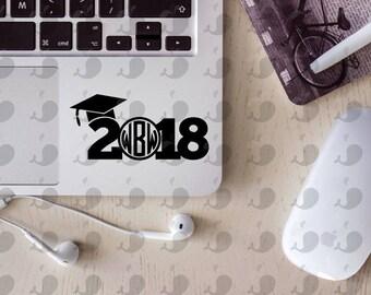 Class Of 2018 Graduation Monogram Decal, Class Of 2018 Monogram Decal, Graduation Monogram Decal