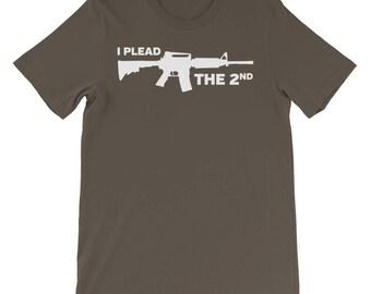 I Plead The 2nd - Second Amendment T-Shirt | Patriot | 2nd Amendment | Gun Rights | Gun Shirt | Pro Gun | Conservative T-Shirt | NRA