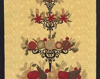 Pine Fresh Fabric Panel // Moda Winter Fabric + Christmas Labels