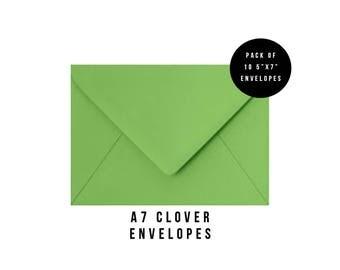 5x7 Green Envelopes