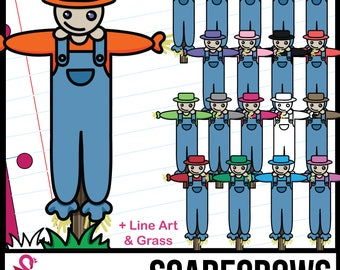 Colorful Scarecrow Clip Art