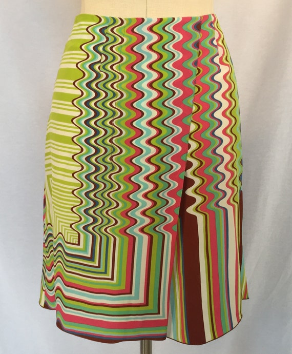 Missoni Op Art Print Skirt