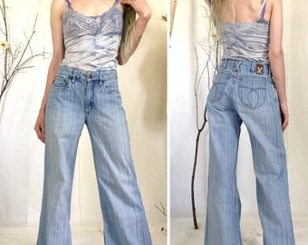 90s Jeans, High Waisted, Gen X, Bellbottoms, Size XS 0 1 2 3, Generation X, Wide Leg, Flares, 1990s, 90s, 90s Pants, Bellbottom Jeans, Denim