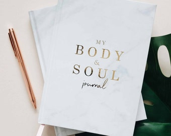 Luxury fitness and mindfulness planner, fitness journal, fitness gifts, mindfulness gifts, weekly reflection journal, wellness planner