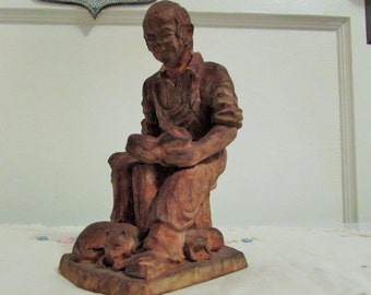 shoe cobbler statuette, SIC France