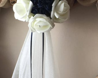10 x Navy wedding pew ends