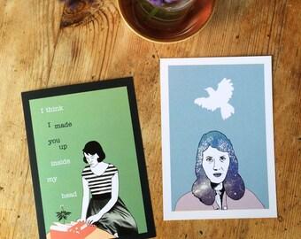 Sylvia Plath set (Illustrated Literary Postcards & Prints: Writers)
